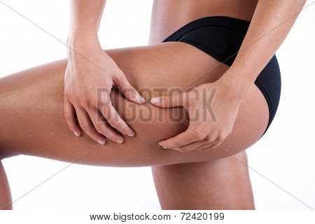 Woman Watching Her Thigh