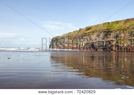 Cliffs Of Ballybunion With Reflection