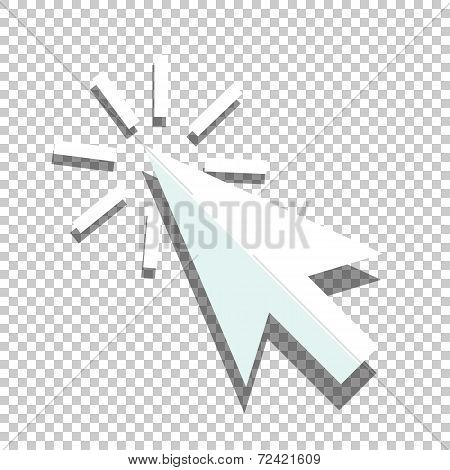 Flat coursor icon