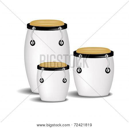 Congas band in white design