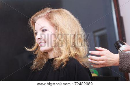 Blond Girl In Salon
