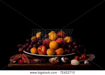 Fruit dish in art style