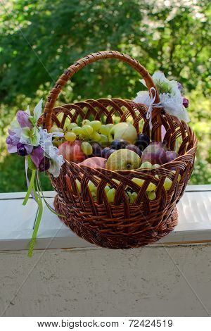 Fruit Basket On The Balcony