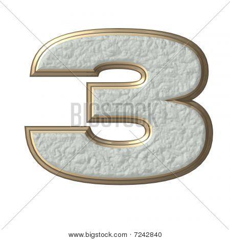 3D number 3