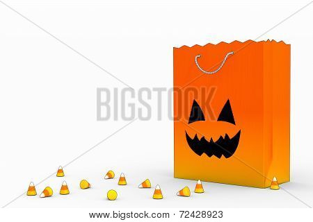 Candy Corn and Jack O'Lantern Bag