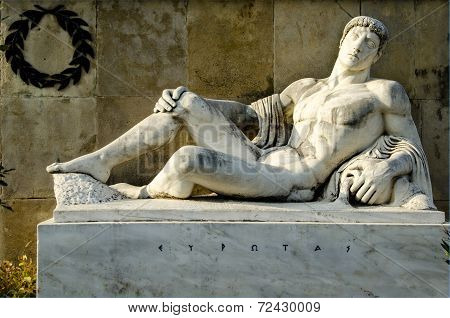 King Eurotas, From The Monument Of Leonidas, Thermopylae.