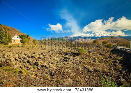 Small House Near Volcano Etna