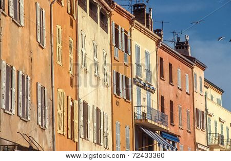 Houses At The Waterfront Of Saint Tropez