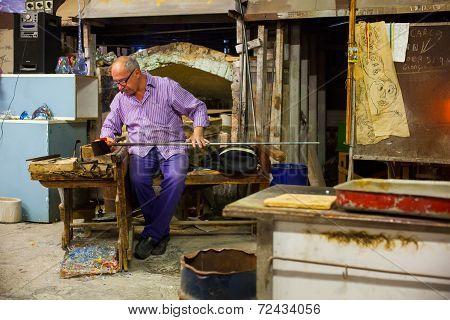 Worker Of Murano Furnace
