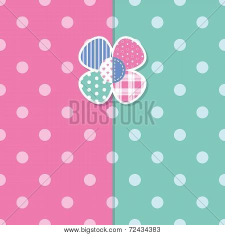 cute baby girl greeting card