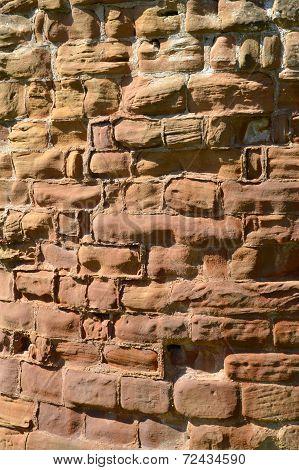 Sandstone wall, Warwick Castle