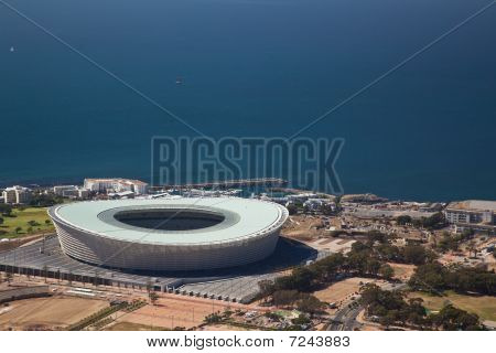 Football world cup stadium in Cape Town South Africa