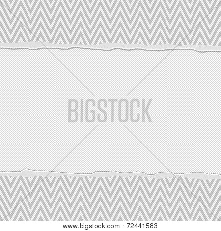 Gray And White Torn Chevron Frame Background