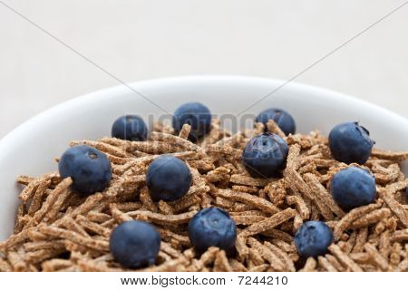 Bran Breakfast Cereal With Blueberries