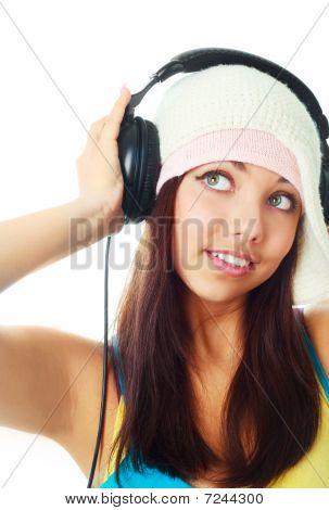 Girl With Earphones
