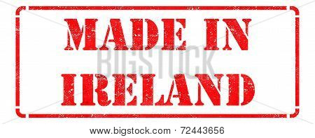 Made in Ireland on Red Stamp.
