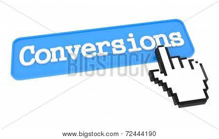 Conversions Button with Hand Cursor.