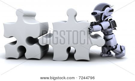Robot Solving Jigsaw Puzzle