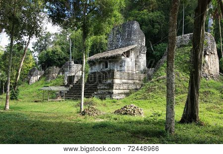 Ruin of Mayan temple in Tikal National Park, Guatemala