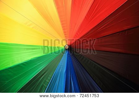 Color Parasol As Nice Rainbow Background
