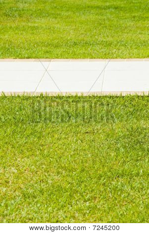 Sidewalk In The Grass