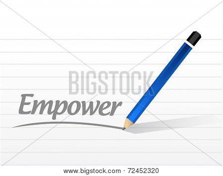 Empower Message Illustration Design