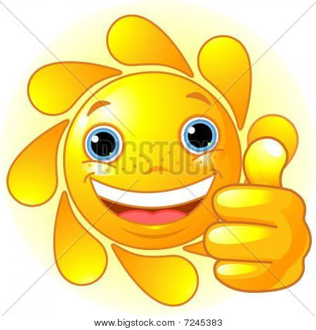 Sun Hand giving thumbs up