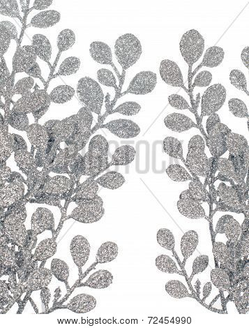 Christmas Decorative Silver Leaves