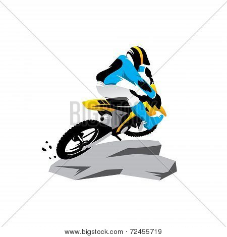 Motocross Vector Sign