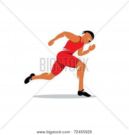 Sprinter Runner Vector Sign