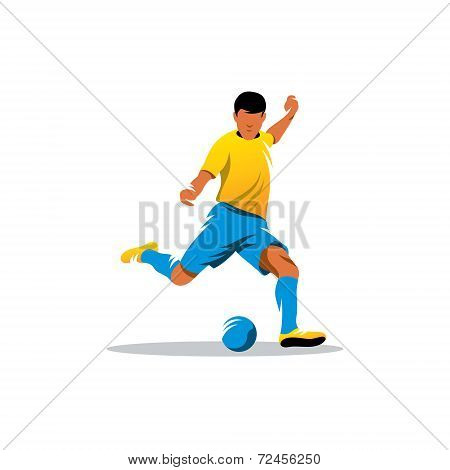 Soccer Player Vector Sign
