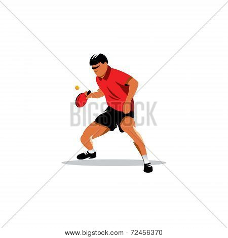 Table Tennis Vector Sign