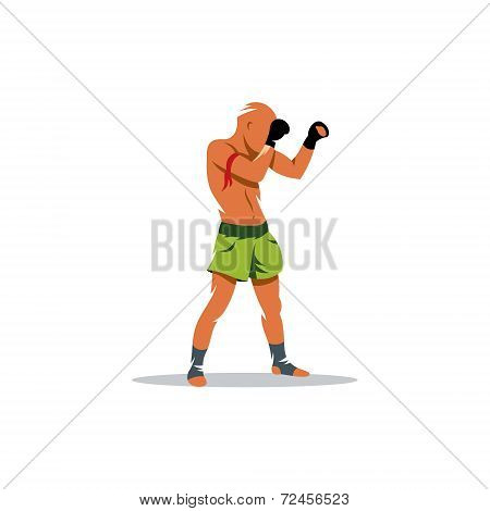 Thai Boxing Vector Sign