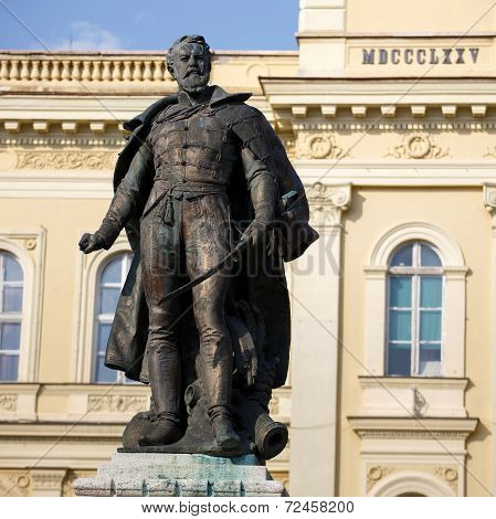 General Klapka Statue In Komarno