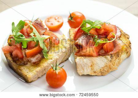 Italian Bruschetta Sandwich