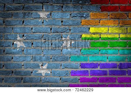 Dark Brick Wall - Lgbt Rights - Micronesia