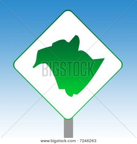 New Brunswick Map Road Sign
