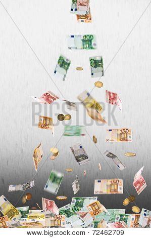 Falling Euro Money