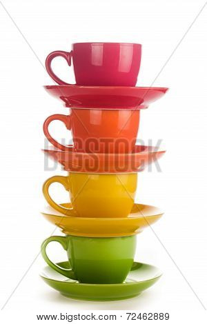 Colorful Rainbow Cups