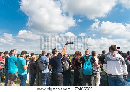 Visitors Of An Air Show