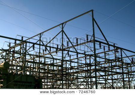 Electrical power plant grid
