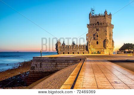 Belem Tower In Lisbone City, Portugal