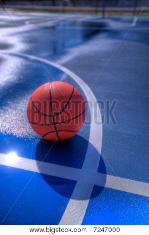 Basketball At Midcourt