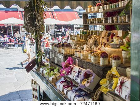 London, England - July 29Th 2014: Covent Garden Market Stall