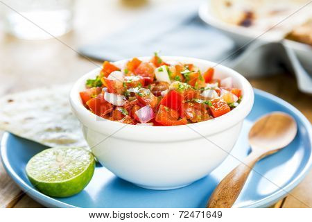 Tomato Salsa With Tortilla And Toast