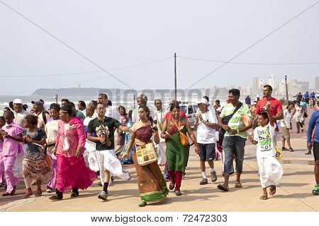 Walk Celibrating Heritage Day In Durban South Africa