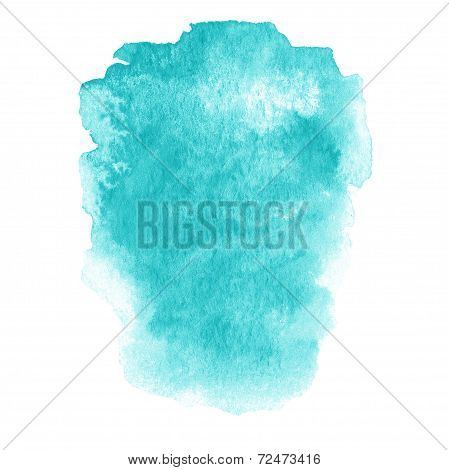 Colorful Wet Ink  Spot, Watercolor Abstract Hand Painted Textured Background Isolated On White. Wate