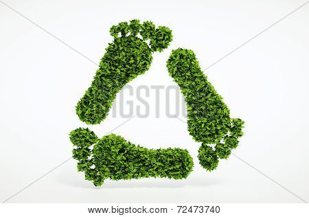 Ecology Leaf Footprint Recycling Symbol