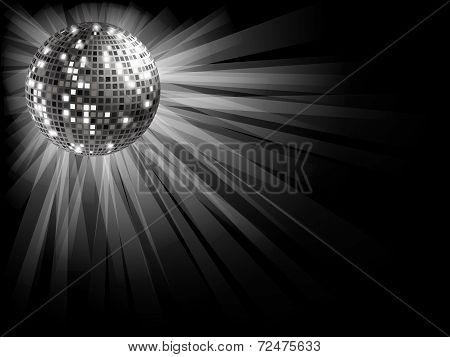 Silver Disco Ball .