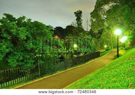Lighted walkway at Kent Ridge Park